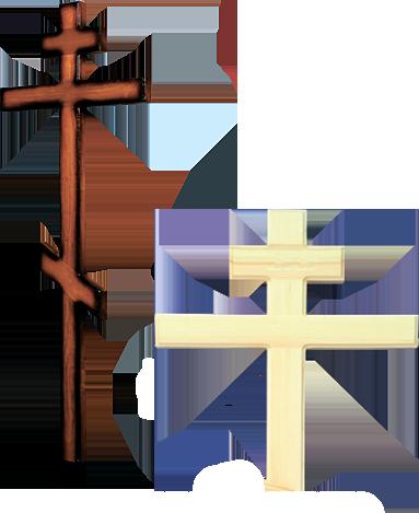 Крест сосновый темный/светлый без надписи