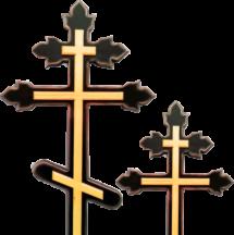 Крест сосновый «тюльпан» с накладкой без надписи