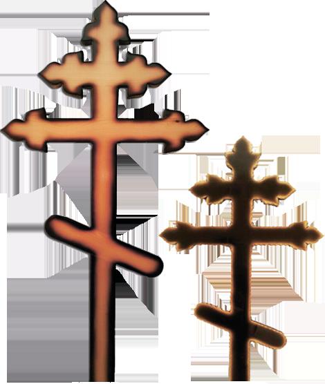 Крест сосновый «тюльпан» светлый/темный без надписи
