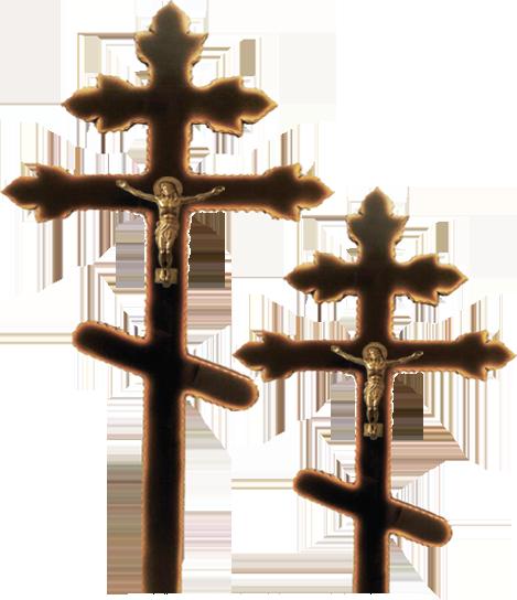 Крест сосновый «тюльпан» черный с распятием без надписи