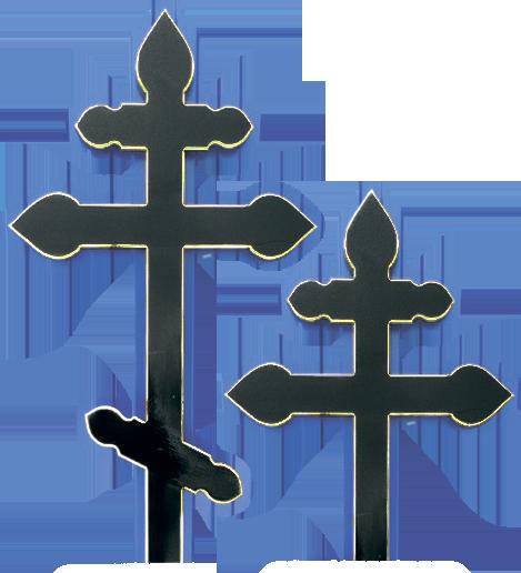 Крест сосновый «купола» черный без надписи