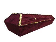 Гроб «Бархат барашек с драпировкой» 4-гранник