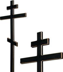 Крест сосновый черный без надписи