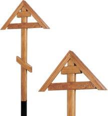Крест дубовый «домиком» с надписью «Вечная память»/ «I.N.Ц.I.»
