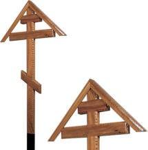 Крест дубовый «домиком» резной без надписи