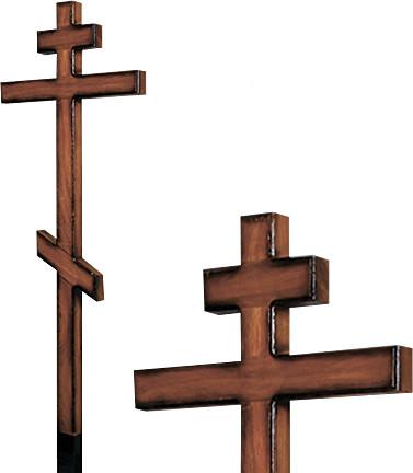 Крест дубовый напыленный без надписи