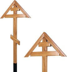 Крест дубовый «домиком» без надписи