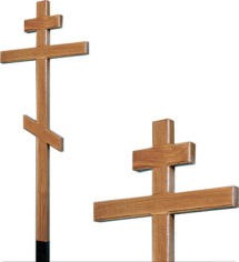 Крест дубовый без надписи