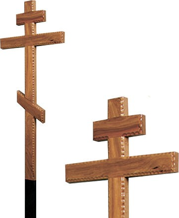 Крест дубовый резной без надписи