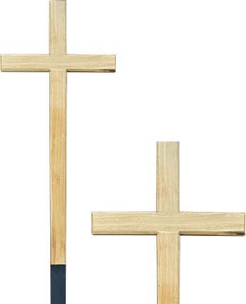 Крест дубовый «Католический» без надписи