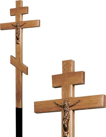 Крест дубовый с распятием без надписи