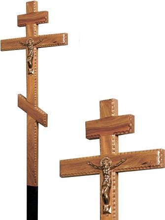 Крест дубовый с распятием резной без надписи