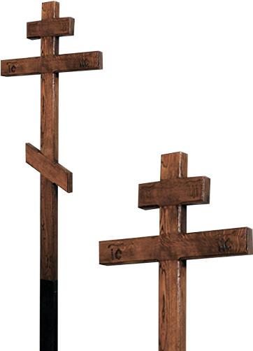 Крест дубовый «мореный» с надписью «Вечная память»/ «I.N.Ц.I.»
