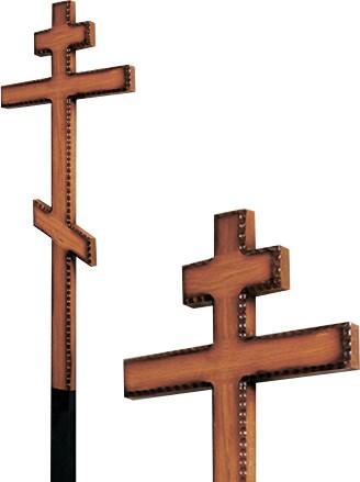Крест дубовый напыленный резной без надписи