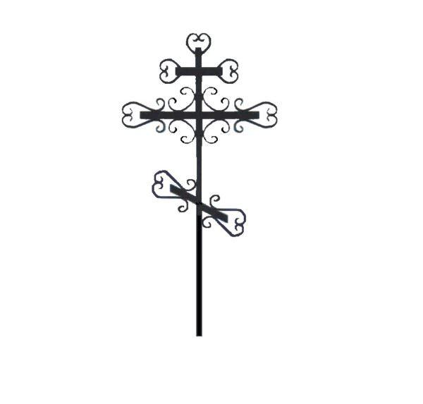Крест металлический Завиток