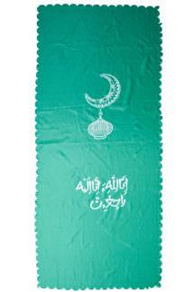 Покрывало из подкладочной ткани с мусульманской символикой