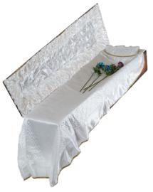 Атласная-стеганная постель в гроб арт. «П-5-5»
